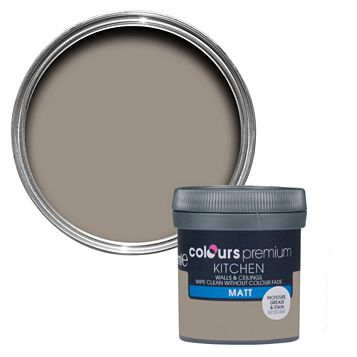Colours Kitchen Taupe Matt Emulsion Paint 50ml Tester Pot