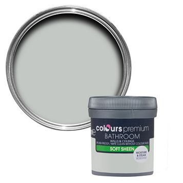 Colours Bathroom Light Rain Soft Sheen Emulsion Paint 50ml Tester Pot
