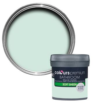 Colours Bathroom Duck Egg Soft Sheen Emulsion Paint 50ml Tester Pot
