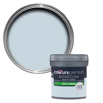 Colours Bathroom Oxygen Soft Sheen Emulsion Paint 50ml Tester Pot