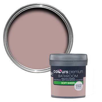 Colours Bathroom Muted Rose Soft Sheen Emulsion Paint 0.05L Tester Pot