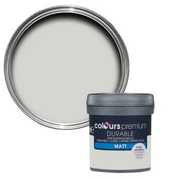 Colours Durable Grey Hints Matt Emulsion Paint 50ml Tester Pot