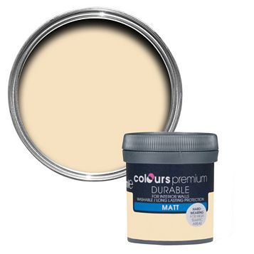 Colours Durable Custard Cream Matt Emulsion Paint 50ml Tester Pot