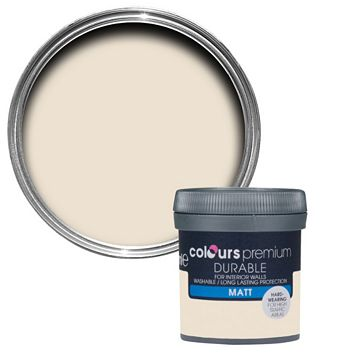 Colours Durable Soft Almond Matt Emulsion Paint 50ml Tester Pot