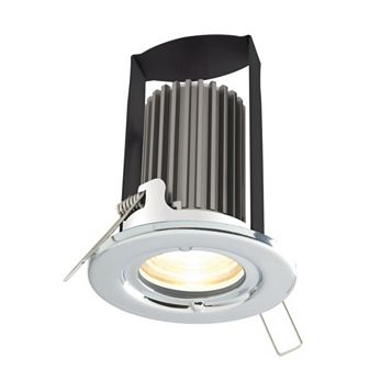 Diall Fire Rated Polished Chrome Effect Downlight 5.2 W