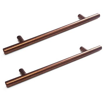 Copper Speckled Matt Straight T-Bar Handle, Pack of 2