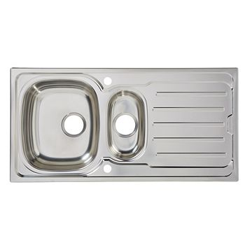 Cooke & Lewis Nakaya 1.5 Bowl Stainless Steel Sink & Drainer