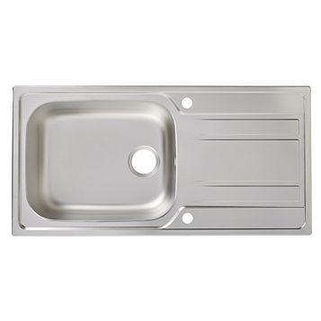 Cooke & Lewis Lyell 1 Bowl Stainless Steel Sink & Drainer