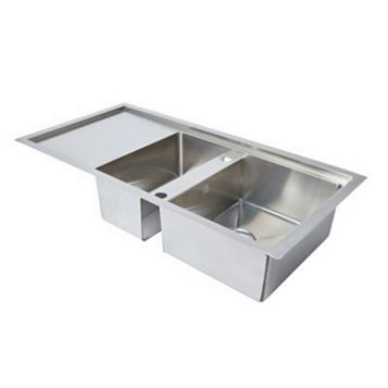 Cooke & Lewis Ampère 1.5 Bowl Stainless Steel Sink & Drainer