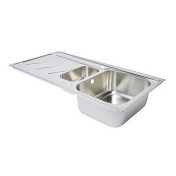 Cooke & Lewis Buckland 1.5 Bowl Stainless Steel Sink & Drainer