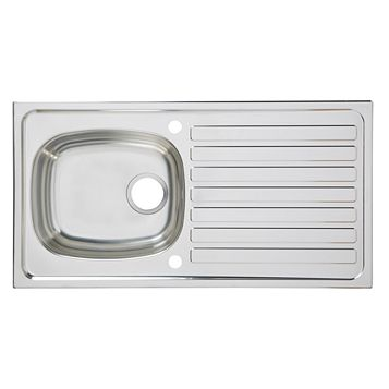 Utility 1 Bowl Stainless Steel Sink & Drainer