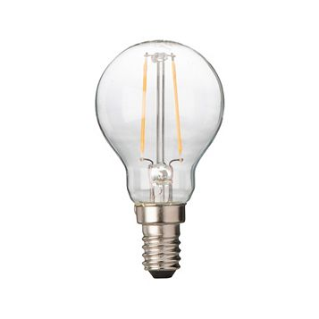 Diall Small Edison Screw Cap (E14) 2W LED Filament Ball Light Bulb