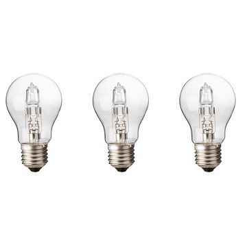 Diall Edison Screw Cap (E27) 30W Halogen Classic Light Bulb, Pack of 3