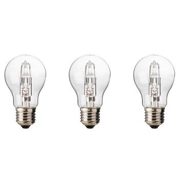 Diall Edison Screw Cap (E27) 46W Halogen Classic Light Bulb, Pack of 3