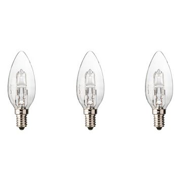 Diall Small Edison Screw Cap (E14) 19W Halogen Candle Light Bulb, Pack of 3