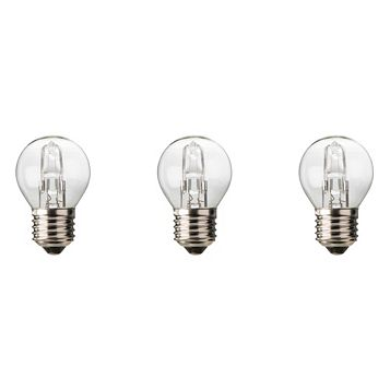 Diall Edison Screw Cap (E27) 30W Halogen Ball Light Bulb, Pack of 3