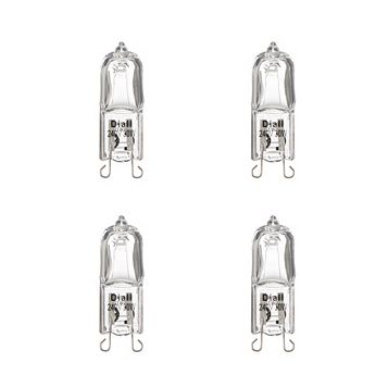 Diall G9 30W Halogen Capsule Light Bulb, Pack of 4