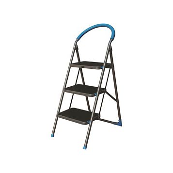 Mac Allister 3 Tread Steel & Plastic Step Stool, 1260mm