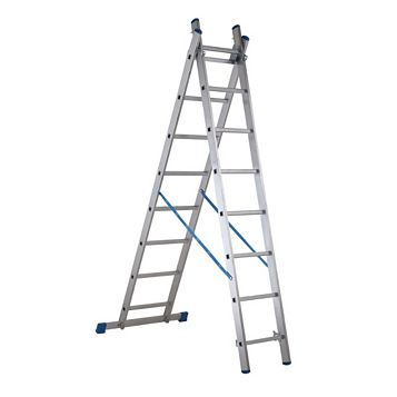 Mac Allister Aluminium-Way 2 In 1 Ladder, (H)3.47M