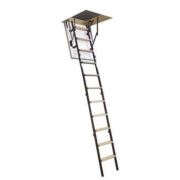 Mac Allister 4 Section Folding Space Restricted Loft Ladder, 265mm