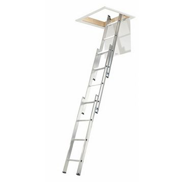 3 Section Sliding Triple Extension Loft Ladder, 3000mm