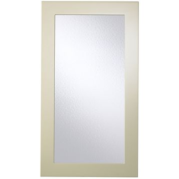 Cooke & Lewis Raffello High Gloss Cream Slab Tall Glazed Door (W)500mm
