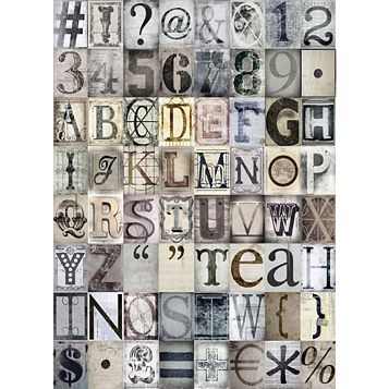 Neutral Typography 64 Piece Wallpaper Collage