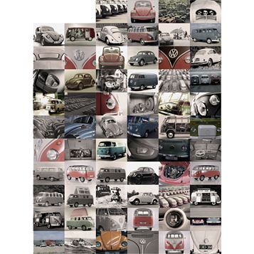 Creative Collage Vw Mural Wallpaper