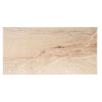 Bali Light Beige Ceramic Wall Tile, Pack of 8, (L)500mm (W)250mm