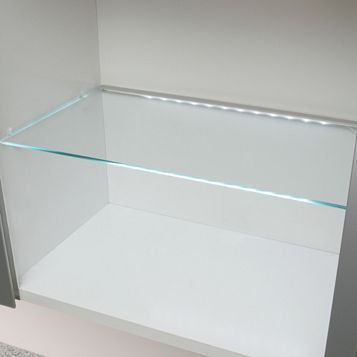 IT Kitchens Glass Cupboard Shelf (L)466mm (D)247mm