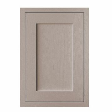 Cooke & Lewis Carisbrooke Taupe Framed Fixed Frame Standard Door (W)500mm