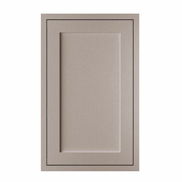 Cooke & Lewis Carisbrooke Taupe Framed Fixed Frame Larder Door (W)600mm
