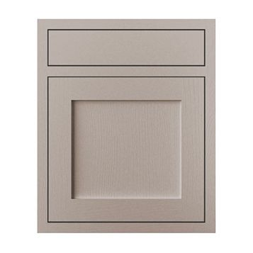 Cooke & Lewis Carisbrooke Taupe Framed Drawerline Door & Drawer Front (W)600mm, Set of 1 Door & 1 Drawer Pack