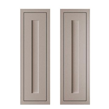 Cooke & Lewis Carisbrooke Taupe Framed Larder Door (W)300mm, Set of 2