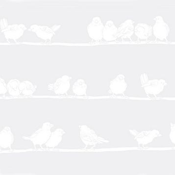 D-C-Fix Bird White Matt Premium Static Cling Window Film (L)2m (W)45cm