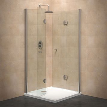 Cooke & Lewis Square Shower Enclosure with Hinged Door (W)800mm (D)800mm
