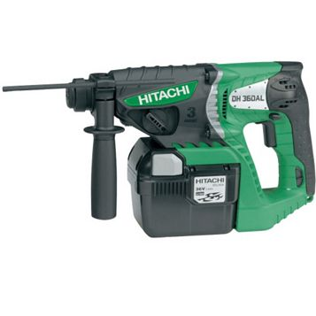 Hitachi Cordless 36V Li-Ion SDS Plus Drill 2 Batteries DH36DAL