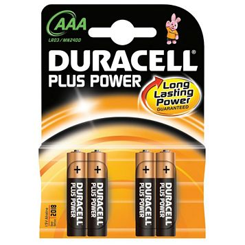 Duracell AAA Batteries 1.5V, Pack of 4