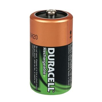 Duracell Rechargeable C Ni-Mh Battery, Pack of 2
