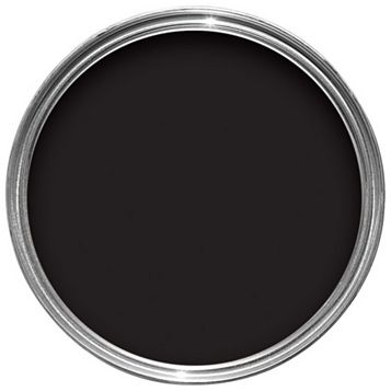 Sandtex One Coat Exterior Black Gloss Wood & Metal Paint 0.75L