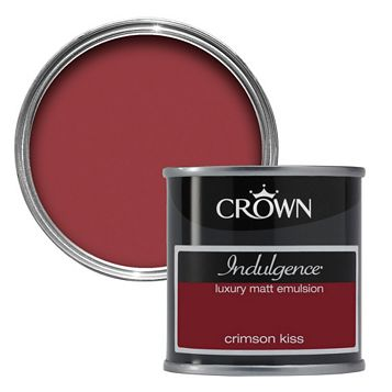 Crown Indulgence Crimson Kiss Matt Emulsion Paint 125ml Tester Pot