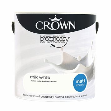 Crown Breatheasy® Milk White Matt Emulsion Paint 2.5L