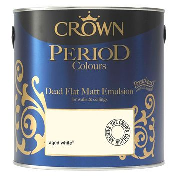 Crown Breatheasy Aged White Matt Emulsion Paint 2.5L