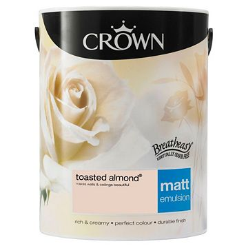 Crown Emulsion Paint Toasted Almond, 5L