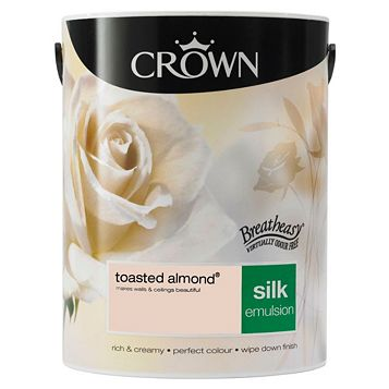 Crown Breatheasy® Toasted Almond Silk Emulsion Paint 5L