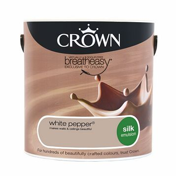 Crown Neutrals White Pepper Silk Emulsion Paint 2.5L