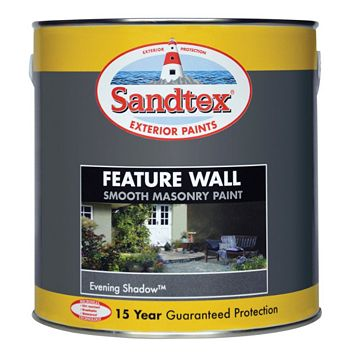 Sandtex Evening Shadow Grey Matt Masonry Paint 2500ml