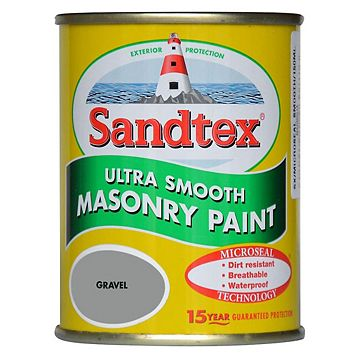 Sandtex Gravel Grey Smooth Masonry Paint 150ml Tester Pot