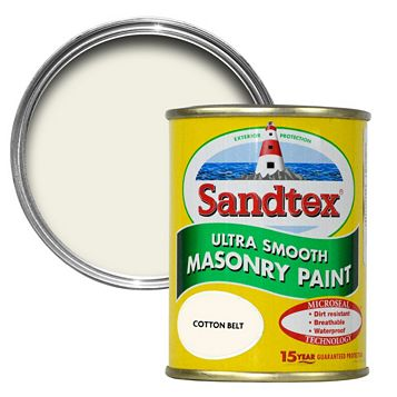 Sandtex Cotton Belt Cream Smooth Masonry Paint 150ml Tester Pot