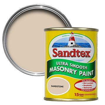 Sandtex Sandstone Beige Smooth Masonry Paint 150ml Tester Pot